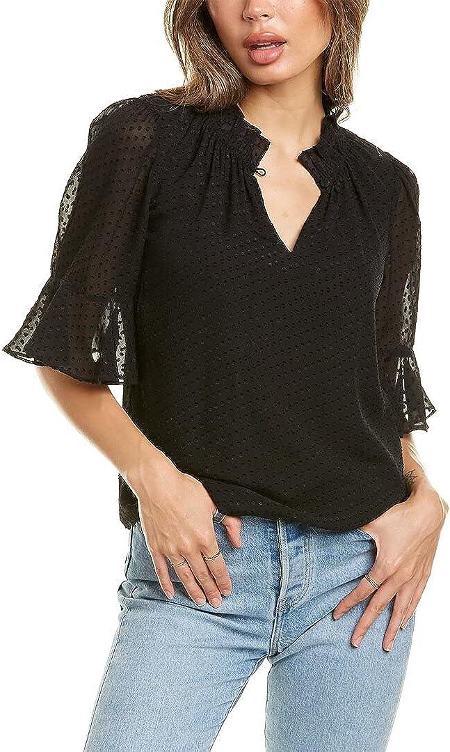 Rebecca Taylor Max 89% OFF Tulsa Mall La Chemise Women's Sleeve Blouse Satin Short