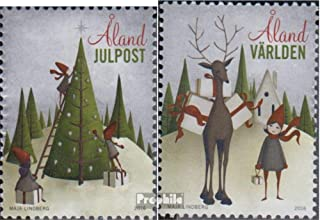 Finland - Aland 430-431 (complete.issue.) 2016 christmas (Stamps for collectors) Christmas