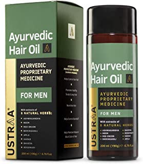 Ustraa Ayurvedic Hair Oil 200ml - with 8 Natural Herb extracts, Controls hair fall, Fights Dandruff, Ayurvedic Nourishment...