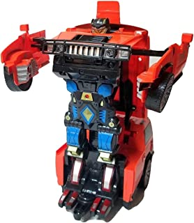 Remote Control Car Transforming Hero Classic Disguise Action Figure Robot Toy with One Button Transformation (Orange)