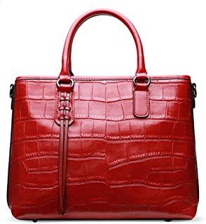Runhuayou New Fashion Childlike Multi-Function Magnanimous Capacity Shoulder Bag Shoulder Slung Leather Handbag Great for Casual or Many Other Occasions Such (Color : Red)