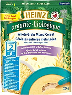 Heinz Organic Whole Grain Mixed Cereal - No Milk, 227g (Pack of 6)