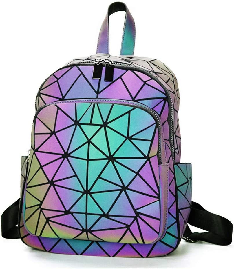 OLOEY Luminous Backpack for Women Recommended El Paso Mall Travel Geogrous Back Geometric