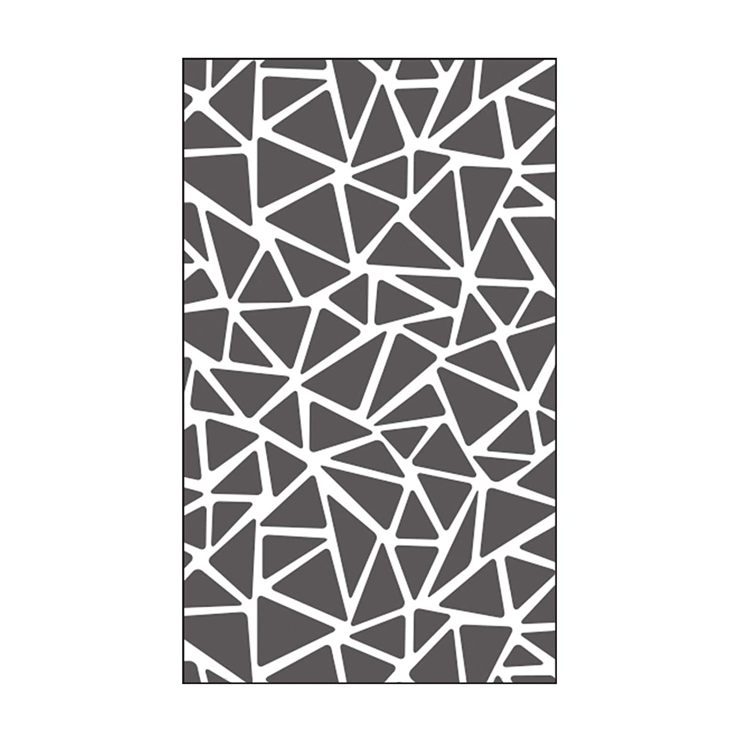 Vaessen Creative Mini Embossing Folder, Triangle, Adding Texture and Dimension to Scrapbook Pages, Cards and Other Papercraft Projects, 3 x 5 inches