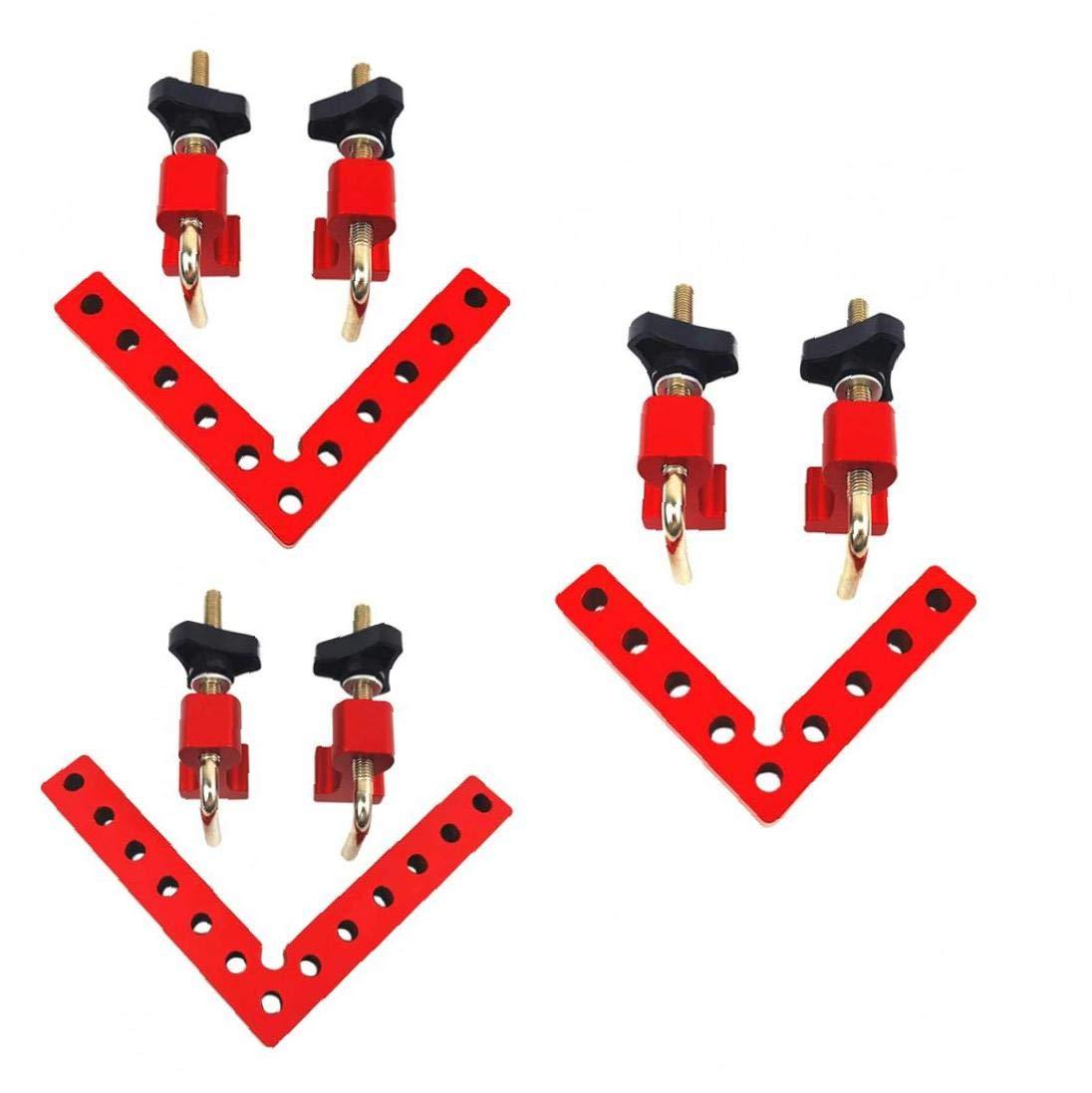 Positionierung Squares Frames 90 /° rechtwinklig Clamp Eckzwingen zur Holzspannwerkzeug 100mm Red Industrielle Hardware