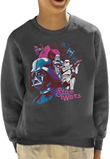 Star Wars Darth Vader Death Star Stormtrooper Bold Kid's Sweatshirt