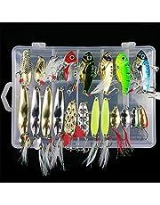 BrilliantDay Señuelos Pesca,Pesca Accesorios,Conjunto de 21 Estuche para Señuelos con Accesorios