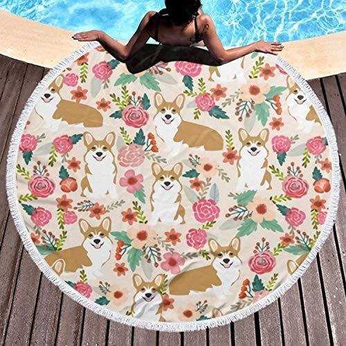 Wohnen Badausstattung Badtextilien Frottiertücher Strandtücher African Adinkra Round Beach Towel Soft Microfiber Thick Large Tapestry Table Cloths Roundie Beach Blanket Throw Picnic Yoga Mat Terry wit