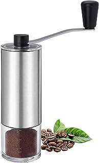 Nurch Kaffekvarn manuell med justerbar keramisk konkant borstad rostfritt stål handvevkvarn för filterkaffe, espresso, fra...