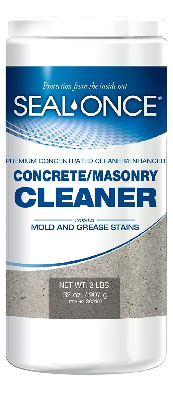 SEAL-ONCE Concrete Fashionable Masonry Cleaner 2 Cleans lbs Enhances S New color