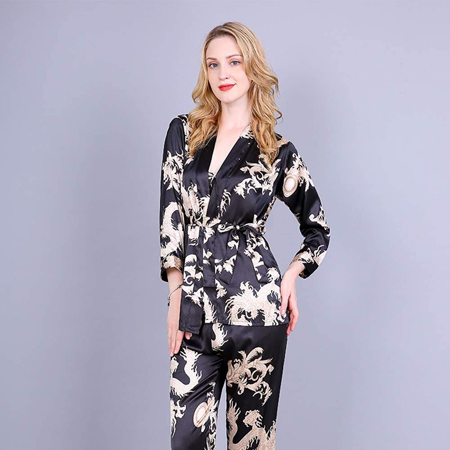 Women's Autumn Nightgown Sexy Elegant Nightgown Home Service Couples Women's Pajamas and LongSleeved Home Clothes
