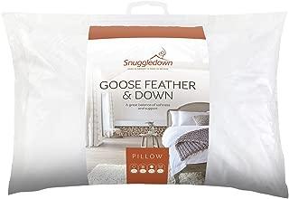 Snuggledown 鹅羽毛和羽绒 中号 白色 12 x 74 x 48 cm 5275SNG01