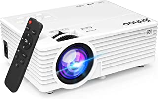 """2021 Upgrade Projector, Mini Video Projector with 6000 Brightness, 1080P Supported, Portable Outdoor Movie Projector, 176""""..."""
