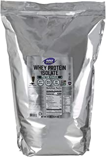 NOW Sports Nutrition, Whey Protein Isolate, 25 G With BCAAs, Creamy Chocolate Powder, 10-Pound