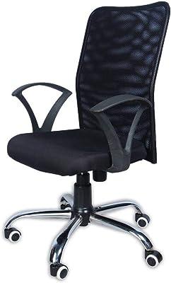 Asha Furniture Back Office armrest revolving Office Chair, Black
