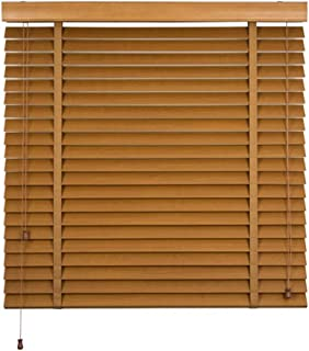Hard Work Bamboo Curtain Roller - Venetian Blinds 5cm Ladder with Blackout Curtain with Drawstring Lifting Partition Curtain for Living Room Study Bedroom Balcony (Multi-Size Selection) Roller Blind