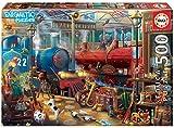Educa Borras - Serie Enigmatic, Puzzle 500 piezas, Estación de tren: un enigma en cada rincón de la imagen (18481)
