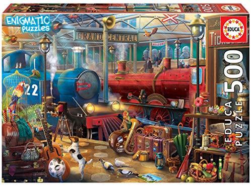 Serie Enigmatic, Puzzle 500 piezas, Estación de tren: un enigma en cada rincón de la imagen (18481)