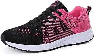 ZLYZS Zapatillas De Running para Mujer, Zapatillas De Carretera De Malla Transpirable Zapatillas Deportivas Cómodas para E...