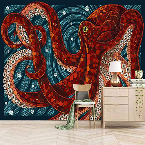 3d wall mural wallpaper galaxy star Wallpaper Mural Photo Children Room Poster DIY Decoration 200x150cm Colorful ocean animal octopus Self Adhesive Paper Peel and Stick Removable Photo Wallpaper Mural