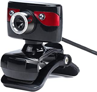 DEALPEAK 480P USB 2.0 Clip-on Webcam Built in Mic Driver-Free Web Camera for Laptop PC Computer