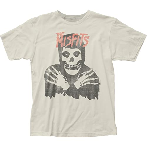 17449b206 The Misfits Punk Rock Band Distressed Skeleton Adult Fitted Jersey T-Shirt  Tee Black