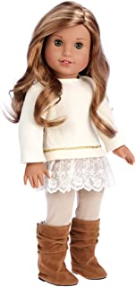 - Romantic Melody - 3 Piece Outfit - Tunic, Leggings and Boots - Clothes Fits 18 Inch American Girl Doll(Doll Not Included)