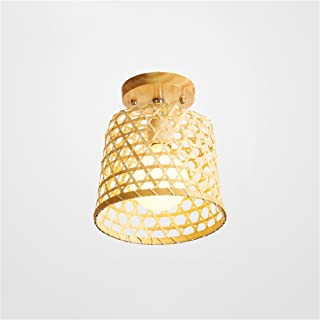 SMC Lámpara de techo Pasillo Lámpara de pasillo Nuevo Club chino de ratán de madera Lámpara de techo de bambú Entrada Jardín retro Lámpara de techo de bambú japonés