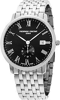 Frederique Constant Slimline Black Dial Stainless Steel Men's Watch FC245BR5S6B