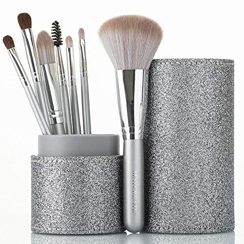 Marble Makeup Brush Set Eyeshadow Brush Lip Lip Blush Blush Loose Powder Makeup, Silver Fox 7