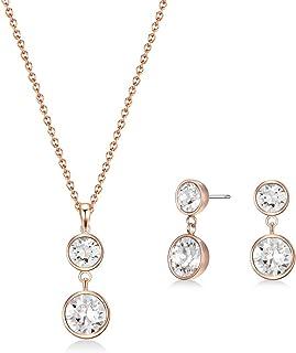 MESTIGE Women Crystal Rose Gold Nyree Set with Swarovski Crystals