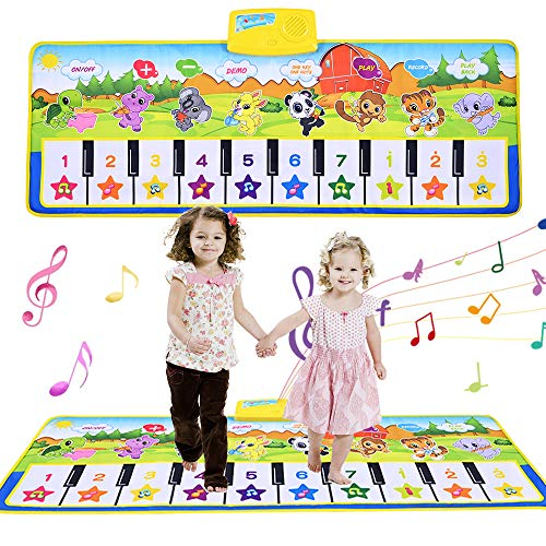 GOLDGE Piano Mat Musik Matte Tanzmatte Kinder Tastatur Matte Spielzeug für Kinder Lernspielzeug Klaviermatte(100 * 36cm)