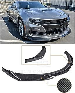 For 2019-Present Chevrolet Camaro LT LS RS SS Models | ZL1 Style Front Bumper Lower Lip Splitter (Carbon Fiber)