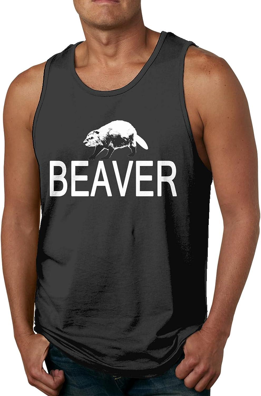 Bombing new Phoenix Mall work I Love Beaver Mens Slimming Muscle Tank C Sleeveless Compression