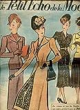 LE PETIT ECHO DE LA MODE N°8 / 19 FEVRIER 1939 - Cathédrale d'Albi / Caractères de la mode nouvelle / L'Angleterre et la femme anglaise / Robes habillées / Tailleurs / Pull au tricot pour grande fillette / Billet de Jeannie / Robes simples / ETC.