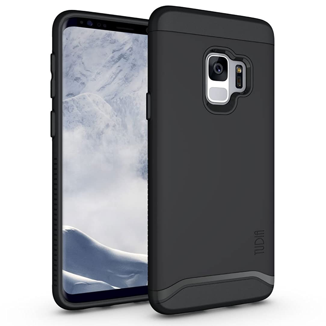 Galaxy S9 Case, TUDIA [Merge Series] Heavy Duty Extreme Protection/Rugged with Dual Layer Slim Precise Cutouts Phone Case for Samsung Galaxy S9 (2018) - Matte Black