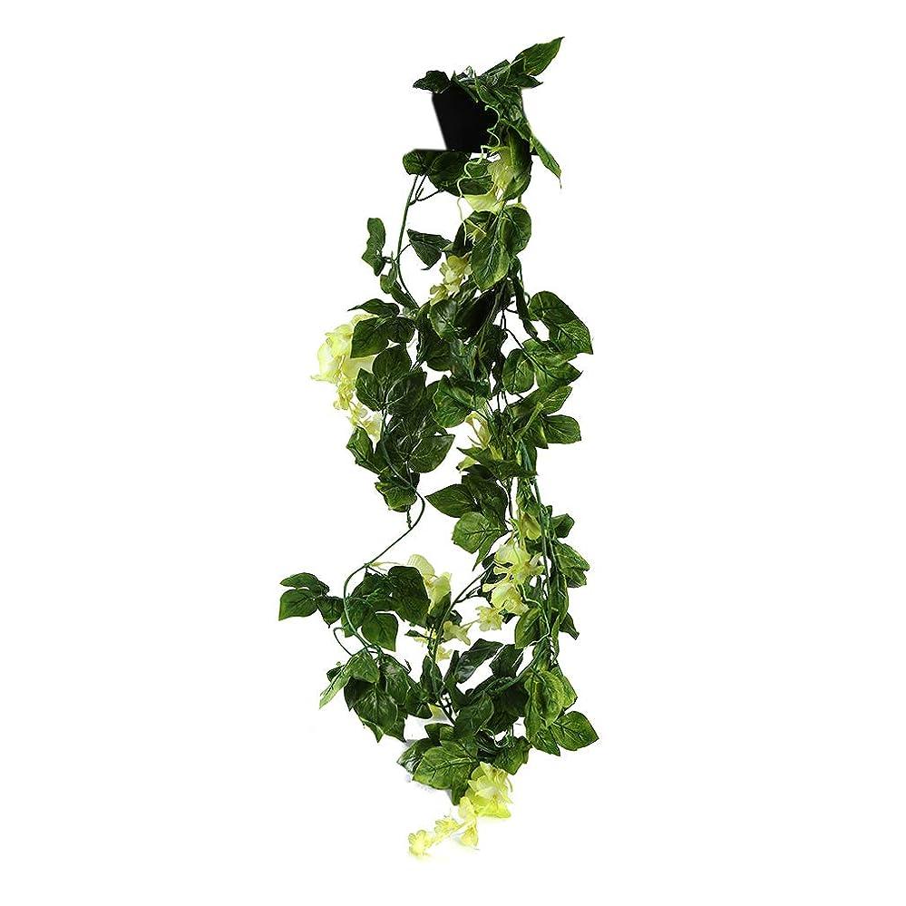 KLUMA フェイクグリーン 観葉植物 壁掛け 枯れないグリーン 造花 インテリア 植物装飾 結婚式 パーティー イエロー