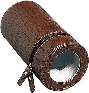 Baosity Men Women Collection Watch Winder Box Automatic Wristwatch Travel Portable - Brown