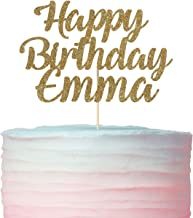 Happy birthday with name cake topper. Customised birthday ideas. Name pick. Customized, personalized.