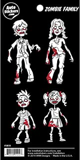 Zombie Family Vinyl Car Stickers 4 Decals
