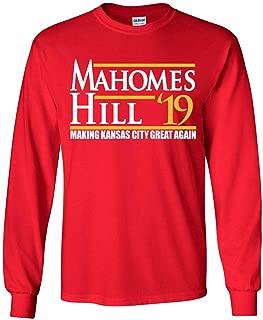 Long Sleeve RED Kansas City Mahomes Making Kansas City Great Again 19