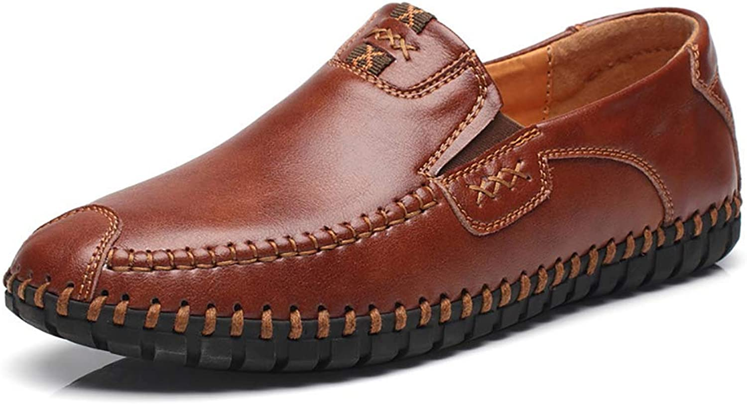 Men's Driving shoes Car Slip On Casual Leather Loafers shoes Comfy Lightweight Round Toe shoes for Formal Business Work