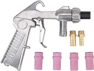 Sandblaster Gun Air Siphon Sand Blasting Gun with Iron/Ceramic Nozzles Kit