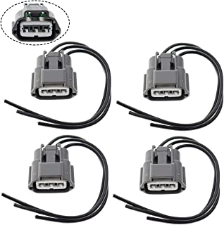 MOTOALL Ignition Coil Connector Plug Wire Harness Pigtail Wiring Loom 3-wire Female for Nissan Infiniti Suzuki J48817102 645-787 - 4pcs