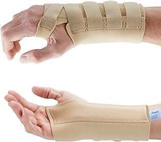 Beige Muñequeras Ferula - Muñeca Rigida - Alivio del esguinces, Artritis, Dolor de muñeca y Tunel carpiano. Homologación médica (Mediana Izquierda, Beige)