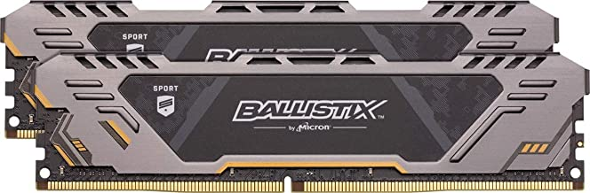 Crucial Ballistix Sport at 2666 MHz DDR4 DRAM Desktop Gaming Memory Kit 32GB (16GBx2) CL16 BLS2K16G4D26BFST