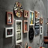 La imagen es una de las paredes del restaurante están decoradas en forma peluquería retro bar entre live muro muro creativo marcos Hu ,0022 combinación blanco