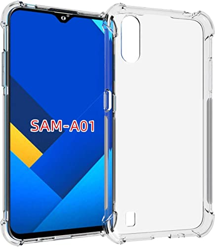 Amagav Shockproof Transparent Samsung Galaxy M01 Mobile Plain Back Case Cover Compatible For Samsung Galaxy M01