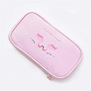YWSCXMY-AU Flamingo Pen Bag Canvas Large Capacity Multi-Function Pencil Bag Pencil Case School Supplies Stationery (Color : Pink)