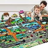 Kinder Dinosaurier Karte Spielzeug Indoor Krabbeldecke Spiel Pad 130 * 100 cm Rollenspiel Frühe Erziehung Geschenke Jungen Mädchen